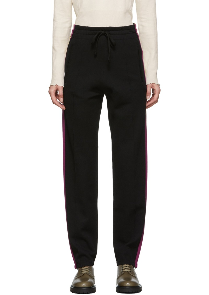 Isabel Marant Black Knit Docia Sporty Lounge Pants