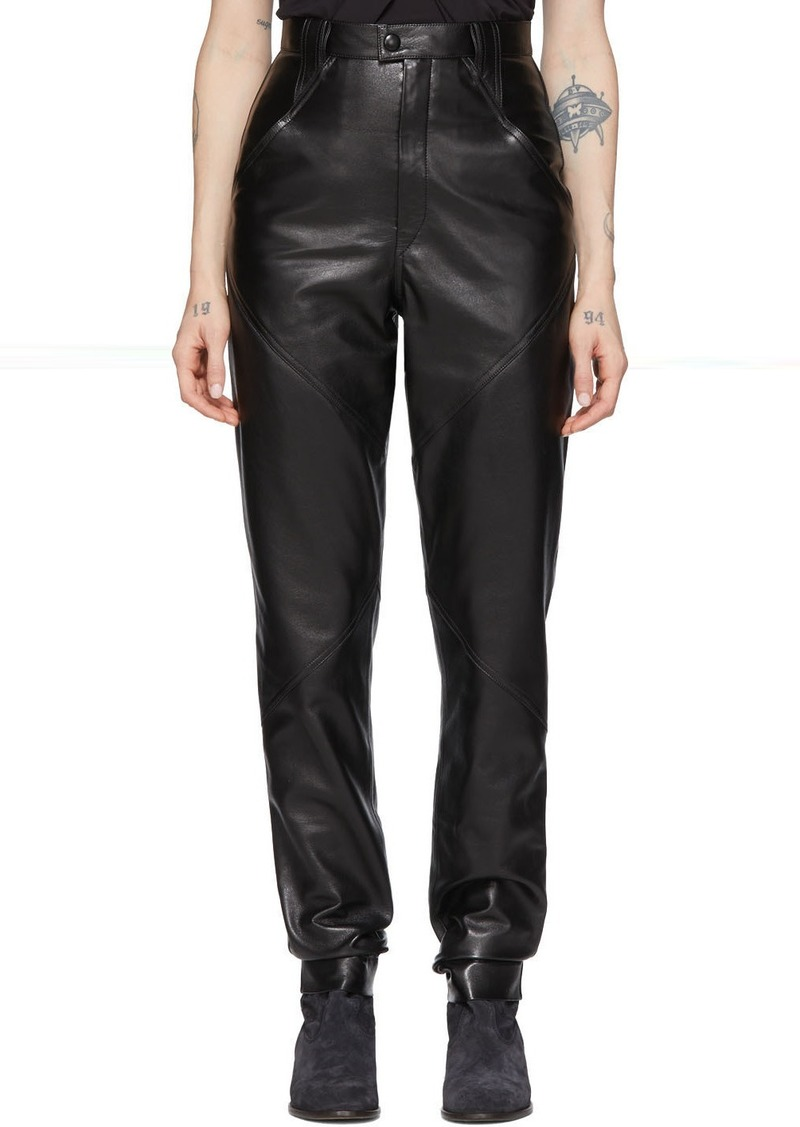 Isabel Marant Black Leather Xenia Pants