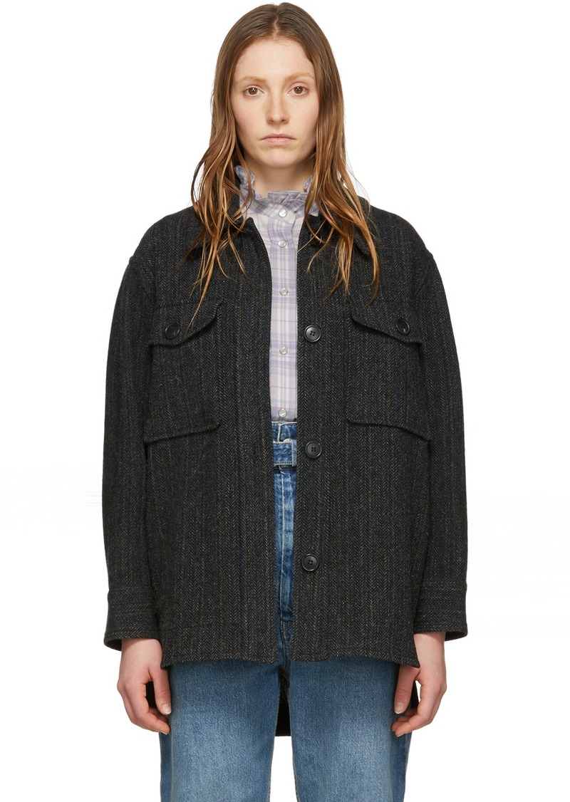 Isabel Marant Black Wool Garvey Jacket