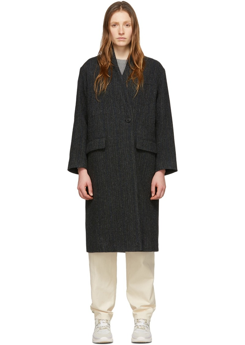 Isabel Marant Black Wool Henlo Coat