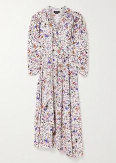 Isabel Marant Blainea Pleated Printed Silk-blend Crepe De Chine Maxi Dress