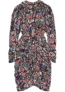 Isabel Marant Blandine Draped Printed Silk-blend Dress