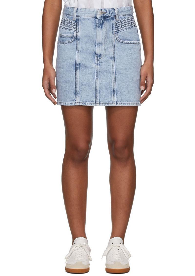 Isabel Marant Blue Denim Honda Miniskirt