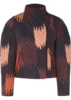 Isabel Marant Bonny Cropped Quilted Printed Cotton-twill Jacket