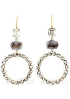 Isabel Marant Boy G Stone Crystal Small Hoop Earrings