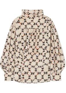 Isabel Marant Brandi Printed Stretch-silk Crepe De Chine Blouse