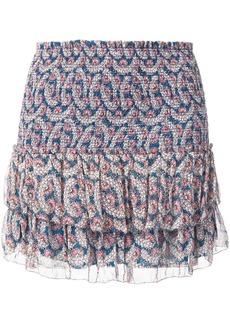Isabel Marant Brinley smocked floral-print skirt