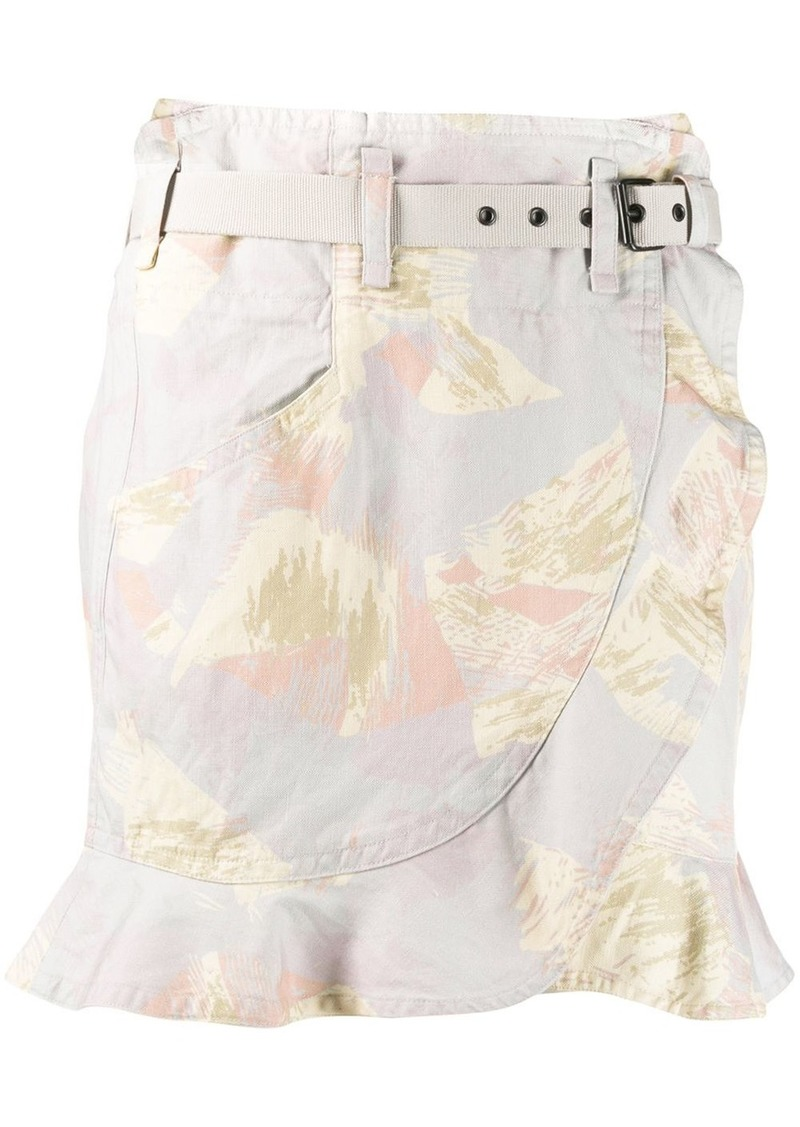 Isabel Marant brushstroke print skirt