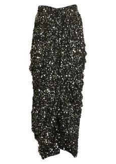Isabel Marant Calliandra Sequin High-Low Skirt