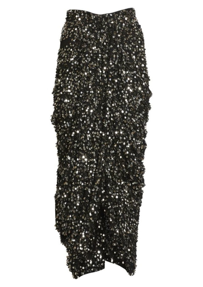 Isabel Marant Calliandra Sequin High-Low Skirt