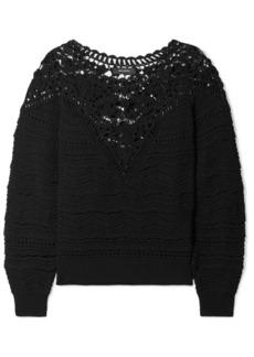 Isabel Marant Camden Crocheted Cotton Sweater