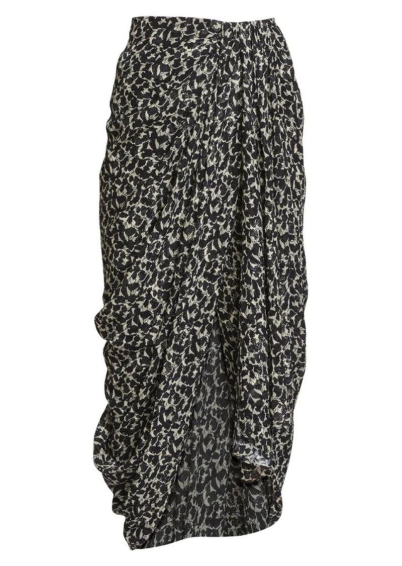 Isabel Marant Candelia Silk Lurex Midi Skirt