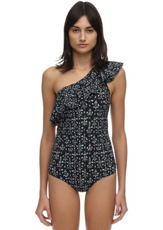 Isabel Marant Cecilia Printed Lycra One Piece Swimsuit
