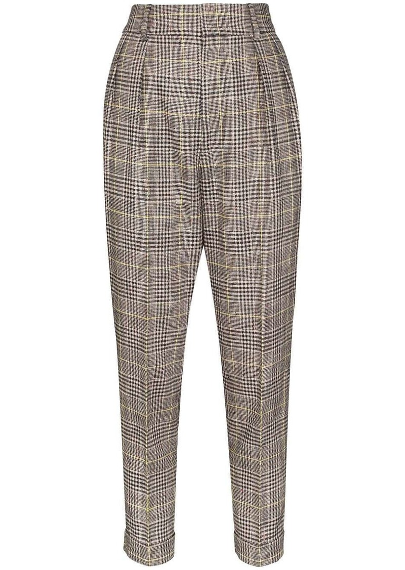 Isabel Marant Ceyo checked trousers