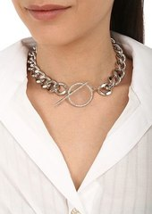 Isabel Marant Chain Necklace W/ Crystal Toggle