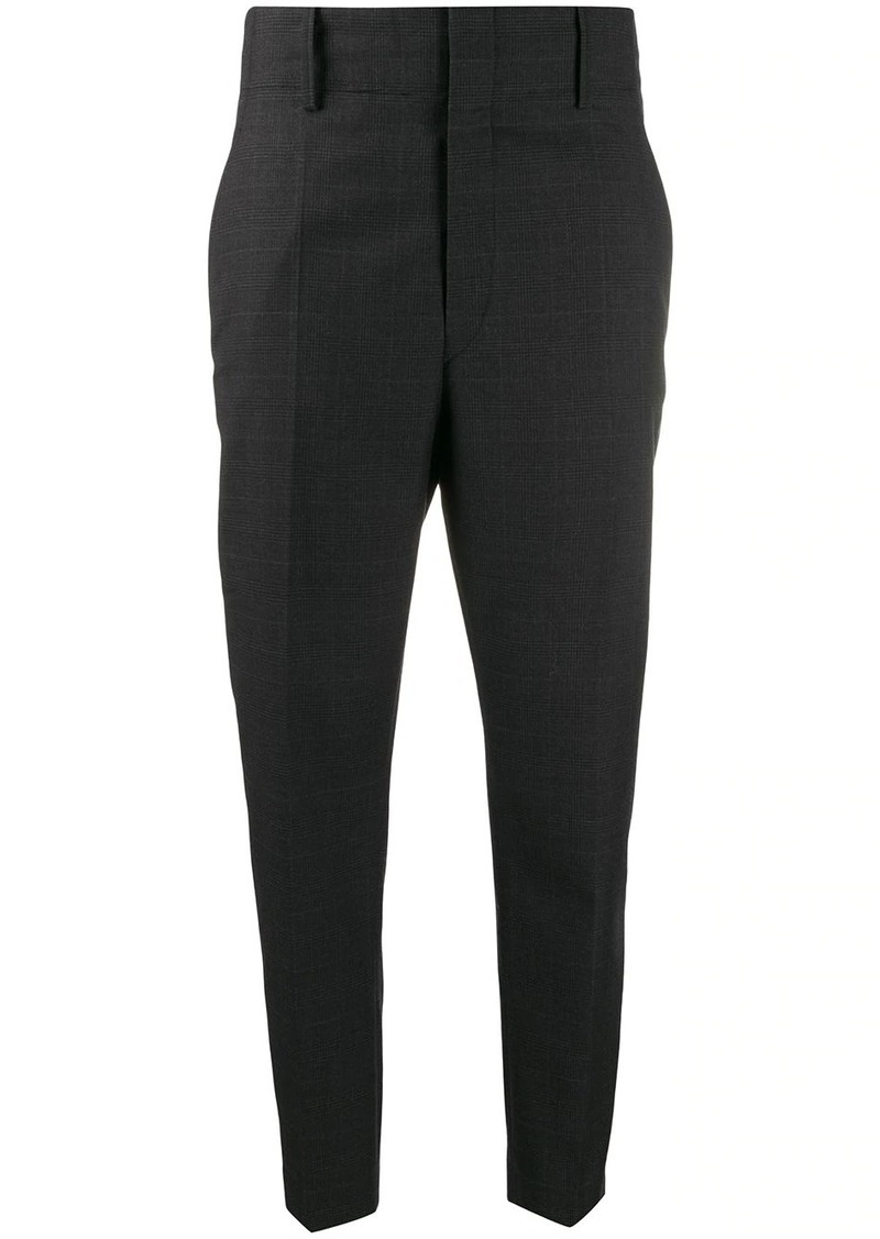 Isabel Marant check pattern high-waisted trousers