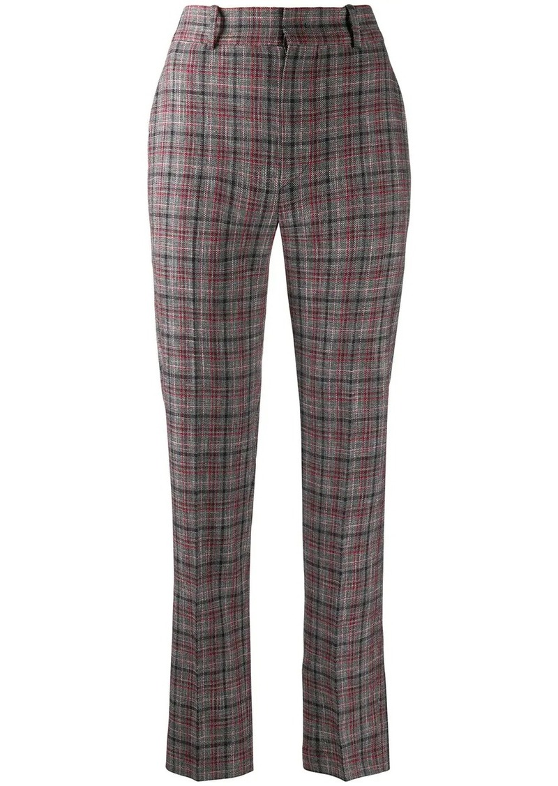 Isabel Marant check print high-waisted trousers