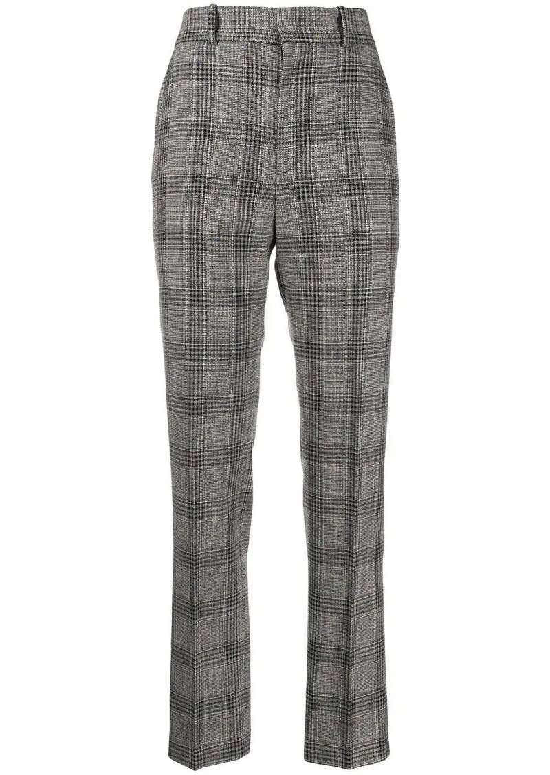 Isabel Marant check straight-leg trousers