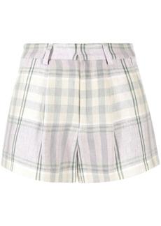 Isabel Marant checked linen shorts