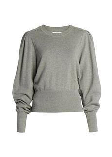 Isabel Marant Chiara Puff-Sleeve Rib-Knit Sweater