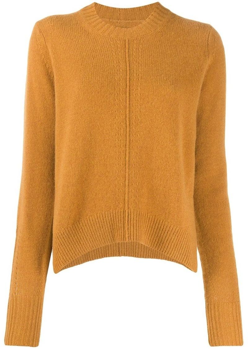 Isabel Marant Chinn side slit crewneck jumper