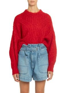 Isabel Marant Chunky-Knit Crewneck Sweater