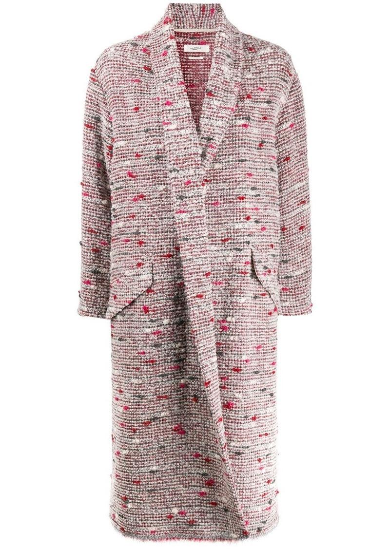 Isabel Marant chunky-knit single-breasted coat