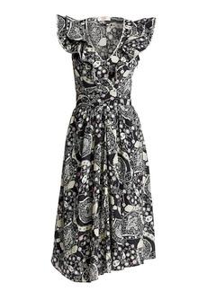 Isabel Marant Coraline Printed Ruffle Midi Dress