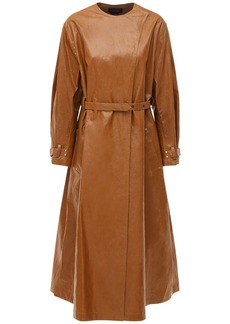 Isabel Marant Corly Coated Linen Blend Trench Coat