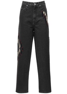 Isabel Marant Corsyb Embroidered Cotton Denim Jeans