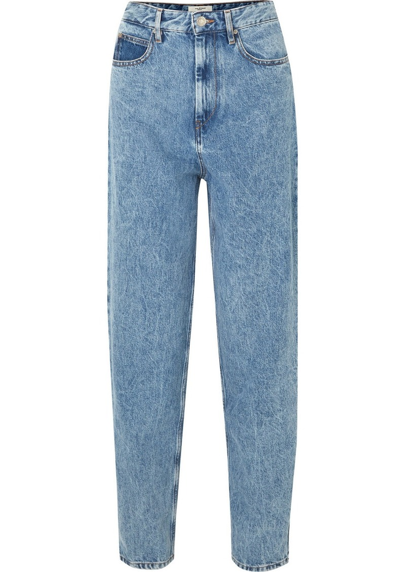 Isabel Marant Corsyj High-rise Tapered Jeans