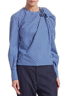 Isabel Marant Cotton Checkered Print Blouse