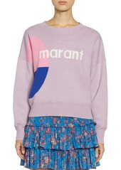 Isabel Marant Cotton Logo Crewneck Sweater