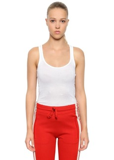 Isabel Marant Cotton Ribbed Jersey Tank Top