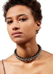 Isabel Marant Crystal & Leather Necklace