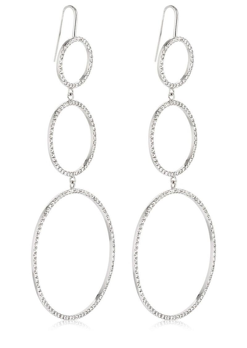 Isabel Marant Crystal Circles Drop Earrings