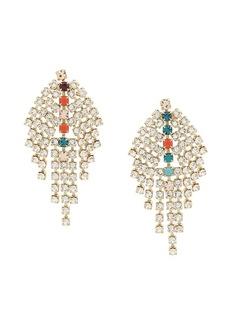 Isabel Marant crystal embellished drop earrings