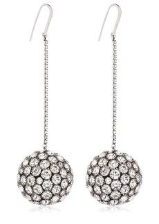 Isabel Marant Crystal Sphere Drop Earrings