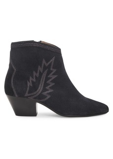 Isabel Marant Dacken Western Suede Ankle Boots