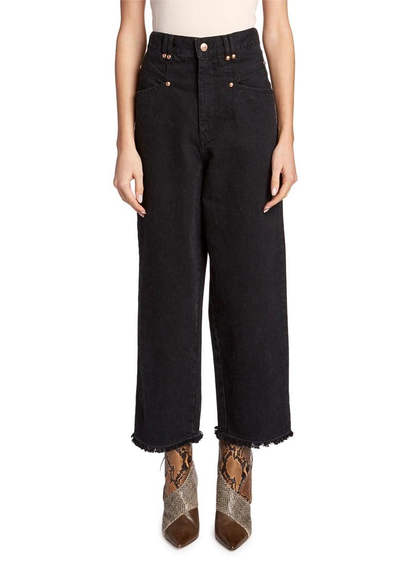 Isabel Marant Daliska Cropped Easy Jeans