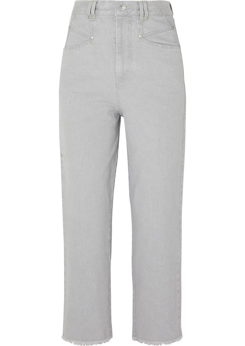 Isabel Marant Daliska Cropped High-rise Straight-leg Jeans