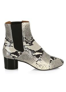 Isabel Marant Danae Python Embossed Leather Booties