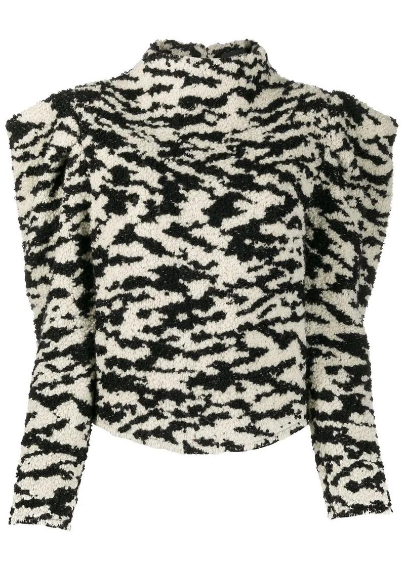 Isabel Marant Daphne structured shoulders jumper