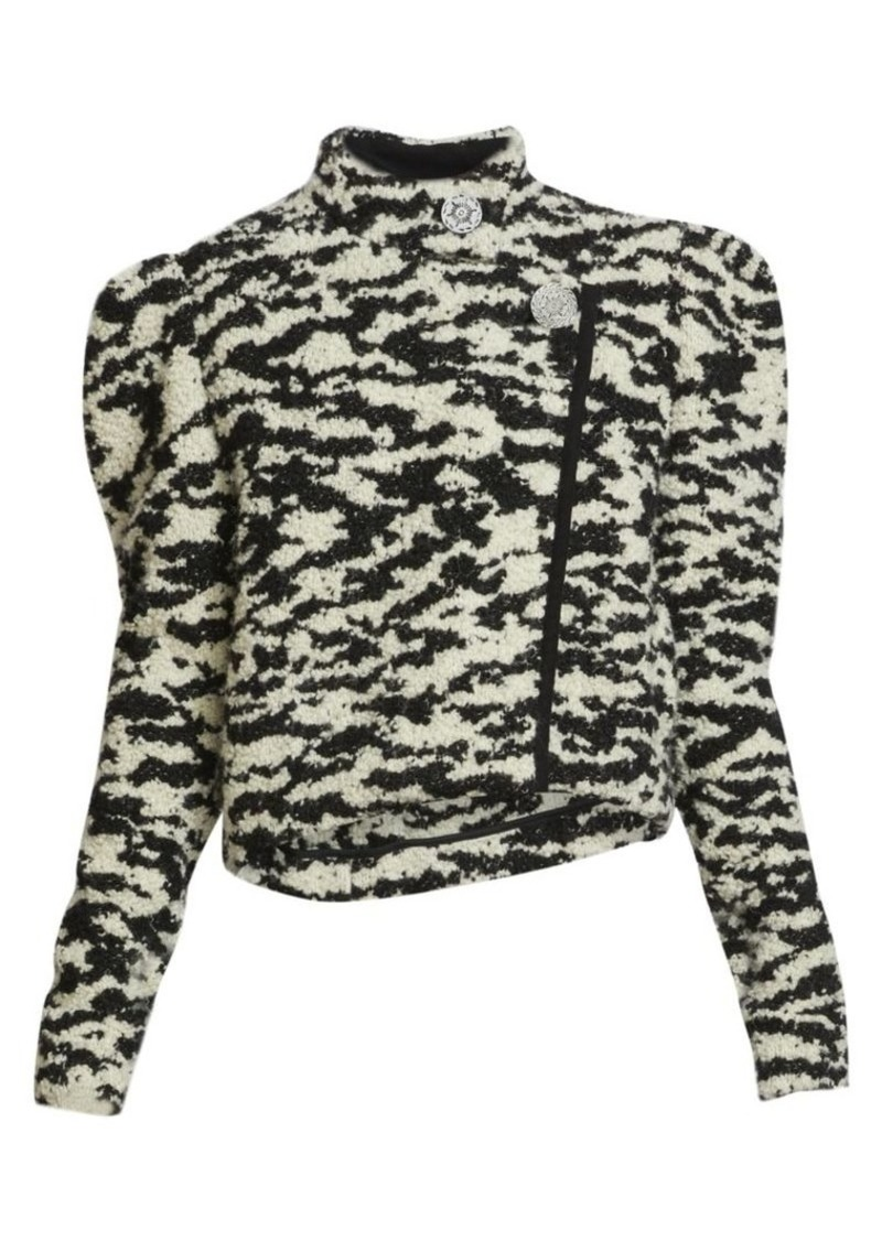 Isabel Marant Daphne Tweed Puff-Sleeve Jacket