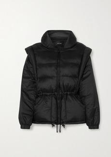Isabel Marant Darsha Convertible Quilted Padded Shell Jacket