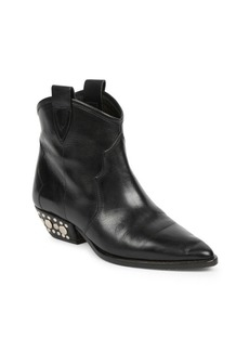 Isabel Marant Dawyna Leather Western Ankle Boots