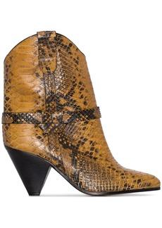 Isabel Marant Deane 75mm snake-effect cowboy boots