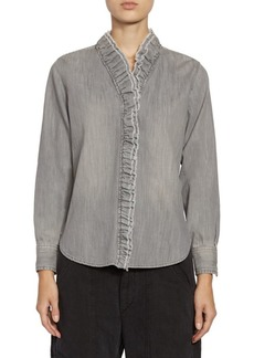 Isabel Marant Denim Ruffle Shirt