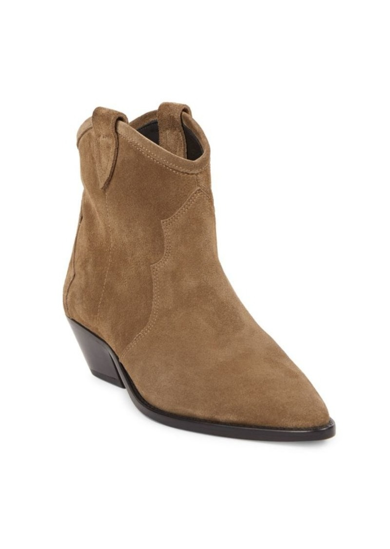 Isabel Marant Dewina Suede Western Ankle Boots