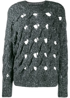 Isabel Marant distressed oversized knitted sweater